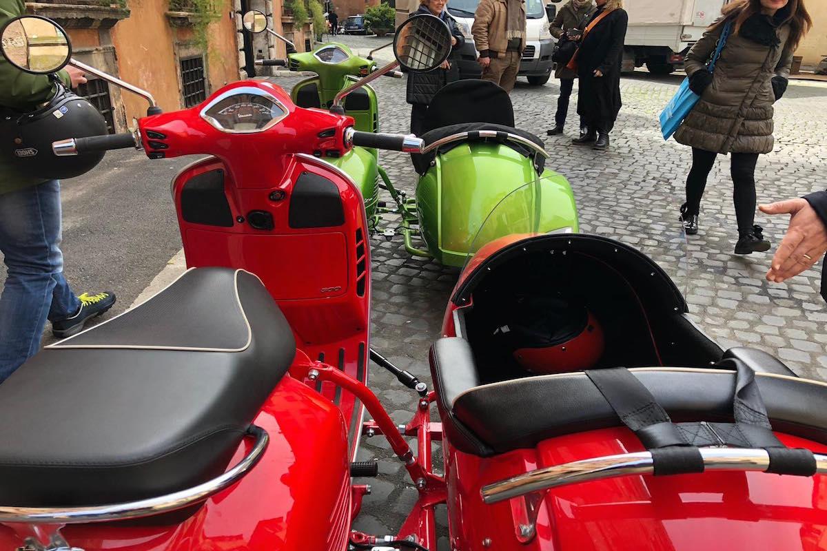 best vespa sidecar tour rome