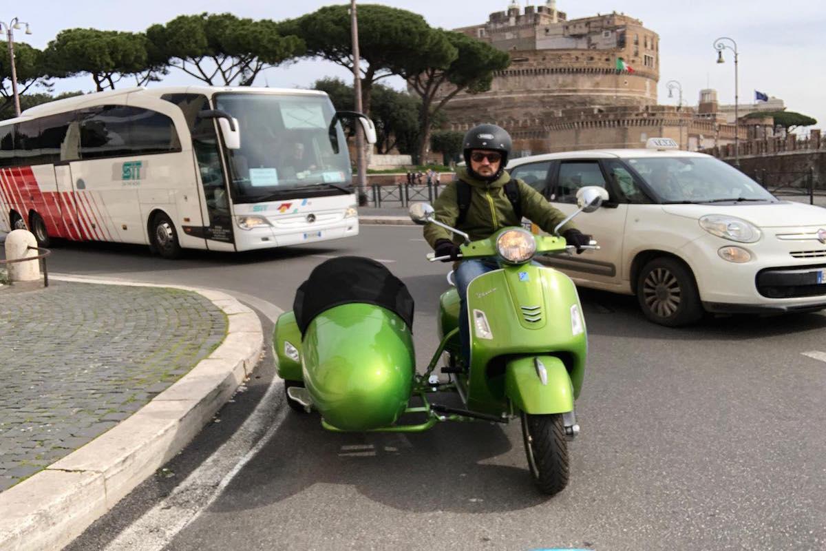 vespa sidecar tour of rome