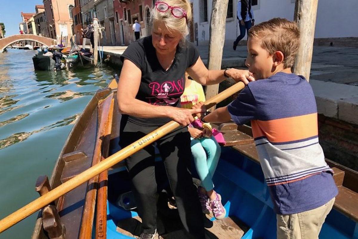 rowing in venice